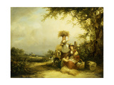 The Gleaners - Shirley, Hants Giclee Print by William Snr. Shayer
