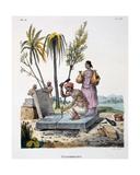 Stonemasons, 1827-35 Giclee Print by M.E. Burnouf