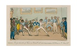Fencing, Jerry's Admiration of Tom in an Assault with Mr O'shaunessy, at the Rooms in St James… Giclee Print by I. Robert & George Cruikshank