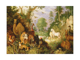 Orpheus Charming the Animals, C.1618 Giclée-tryk af Roelandt Jacobsz. Savery