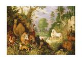 Orpheus Charming the Animals, C.1618 Impressão giclée por Roelandt Jacobsz. Savery