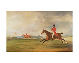 John, 5th Duke of Rutland, General Lord Charles Manners and General Lord Robert Manners Hunting Giclee Print by John E. Ferneley