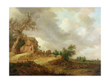 Landscape with Figures Outside an Inn, 1643 Giclee Print by Jan Josephsz. Van Goyen