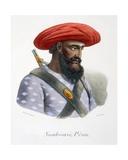 Nambousi, a Foot Soldier, 1827-35 Giclee Print by M.E. Burnouf