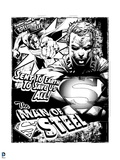 Superman: Man of Steel Wallpaper (Black and White) Prints