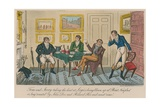 Tom and Jerry Taking the Hint at Logic's Being Blown Up at 'Point Nonplus' Giclee Print by I. Robert & George Cruikshank