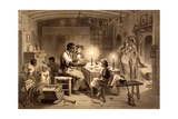 Uncle Tom's Cabin, Plate 1 from 'Uncle Tom's Cabin' by Harriet Beecher Stowe (1811-96) Engraved… Giclee Print by Adolphe Jean-baptiste Bayot