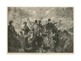Lowther Arcade at Christmas Time Giclee Print by Charles J. Staniland