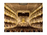 Covent Garden Theatre, from 'Microcosm of London' by R. Ackermann, 1808 Giclee Print by T. & Pugin Rowlandson