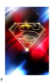 Superman: Superman Logo in Red and Blue Lights Posters