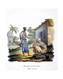 A Servant, 1827-35 Giclee Print by M.E. Burnouf