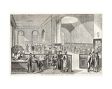 The Subscription Room at Lloyds, after an Old Print Giclee Print by T. & Pugin Rowlandson
