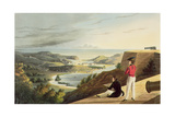 View of the English Harbour, Antigua from Great George Fort, Monks Hill, Engraved by T. Fielding,… Giclee Print by J. Johnson