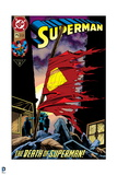 "Superman: Superman No. 2 ""The Death of Superman!"" (Color) Art"