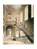 The Hall and Staircase from the British Museum from Ackermann's 'Microcosm of London' Giclee Print by T. & Pugin Rowlandson