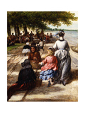Near the Beach, Gloucester, 1877 Giclee Print by William E. Winner