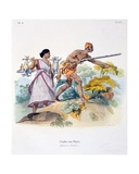 Indian Hunter with Musket, 1827-35 Giclee Print by M.E. Burnouf