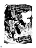 Superman: Superman: The Last Son of Krypton (Black and White) Prints