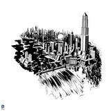 Superman: Metropolis (Black and White) Print