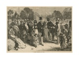 A Summer Afternoon in Kew Gardens, London Giclee Print by Charles J. Staniland
