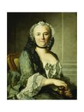 Portrait of a Lady, Seated, Half Length, with a Snuff Box Giclee Print by Louis M. Tocque