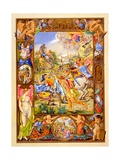 Facsimile of a Manuscript Illustration of the Conversion of St Paul from 'Commentaries on St… Giclee Print by Giorgio-giulio Clovio