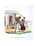 Drug Merchant, 1827-35 Giclee Print by M.E. Burnouf