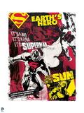 "Superman: Superman: ""Earth's Hero"" Wallpaper (Color) Art"