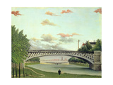 The Bridge at Charenton, France Giclee Print by Henri J.F. Rousseau