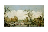 Winter Landscape with a Walled Castle, 1626 Giclee Print by Jan Josephsz. Van Goyen
