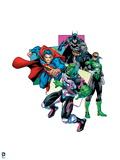Justice League: Brainiac Superman, Batman, and Green Lantern Prints