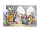 Dancing Bayaderes, 1827-35 Giclee Print by M.E. Burnouf