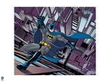 Batman: Batman Holding a Rope While He Climbes Up the Side of a Building Prints