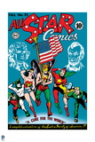 "Justice League: Cover for All Star Comics Fall N0.22 Issue - Justice Society ""A Cure for the World"" Prints"