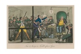 Tom and Jerry in Trouble after a Spree Giclee Print by I. Robert & George Cruikshank