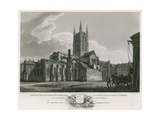 North East View of St Saviour's Church, Consistory Court and Chapel of St John Giclee Print by C. John Mayle Whichelo