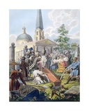 The Burial, 1812-13 Print by E. Karnejeff
