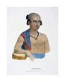 Chinnappa of the Paraiyar Caste, Aged 21, 1827-35 Giclee Print by M.E. Burnouf