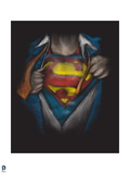 Superman: Superman Coming Out of the Black, Chaging Costume Prints