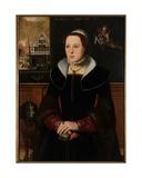 Portrait of Jacquemyne Buuck, 1551 Giclee Print by Pieter Jansz. Pourbus
