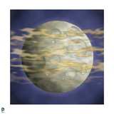 Batman: Image of Full Moon with Yellow Clouds in Front of it and Blue Sky Behind It Posters