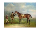 The Duke of Cleveland's 'Chorister', Held by Trainer John Smith with Jockey John Day Snr., at… Giclee Print by John E. Ferneley