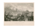 The Opening of New London Bridge Giclee Print by Clarkson R.A. Stanfield