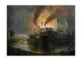 Destruction of the Small Armoury in the Tower of London on 30th Oct 1841 Giclee Print by William C. Smith