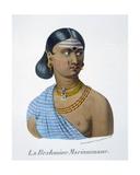 Mariammane, a Brahmin Woman, 1827-35 Giclee Print by M.E. Burnouf
