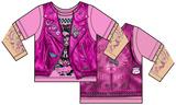 Toddler: Pink Biker Costume Tee Tshirt