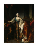 Portrait of Empress Elizabeth, 1758 Giclee Print by Louis M. Tocque