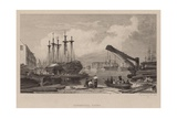 Commercial Docks, London Giclee Print by Clarkson R.A. Stanfield