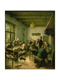 Village Inn with Backgammon and Card Players, 1674/75 Giclee Print by Adriaen Jansz. Van Ostade