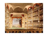 Drury Lane Theatre, Illustration from 'Microcosm of London' by R. Ackermann, 1808 Giclee Print by T. & Pugin Rowlandson